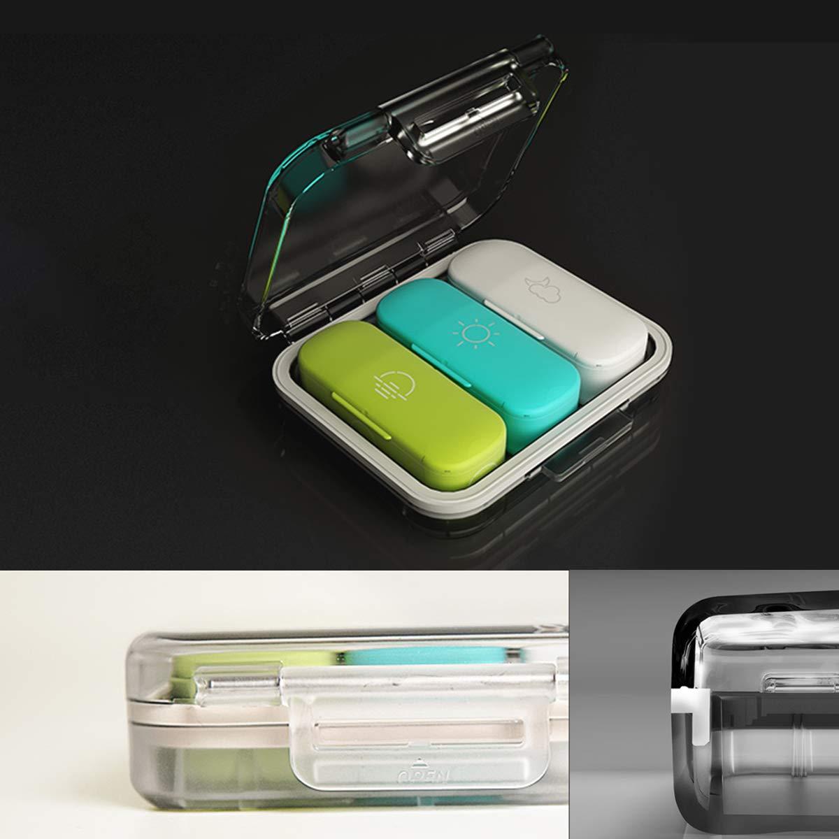 Portable Travel Tablet Medicina Vitamina Pill Organizer Box per Borsa O Tasca JWD HOME Pill Case