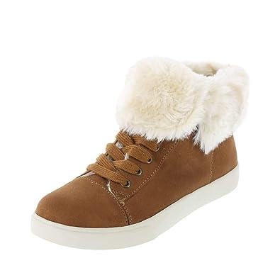 39b15005c8962 Amazon.com | Brash Women's Elliot Fur-Lined Sneaker | Fashion Sneakers