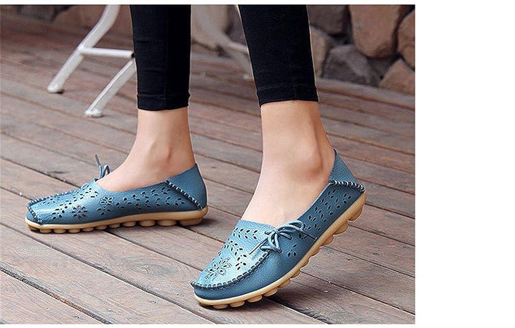 Scarpe casual in da donna in casual vera pelle Mocassini donna Slip-On femminili Mocassini da donna Scarpe da ginnastica cut-out Mother Footwear Blue 7  - aca9b8