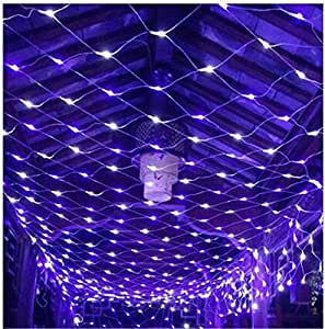 FFJTS Outdoor 8 Modes Effect Droplets Multi Function Xmas Tree Decoration Net light Festival Super Bright Fairy Net light?Purple? , 810