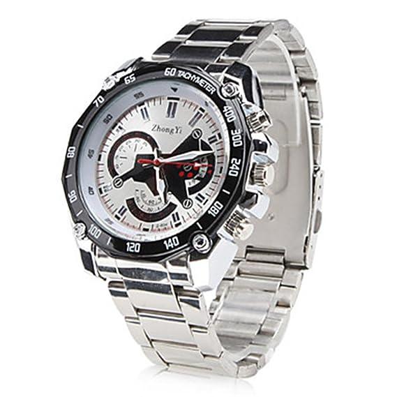 Relojes Vendiendo dos nuevos Casual Male cuarzo blanca al por mayor Negro aleación Zy: Amazon.es: Relojes
