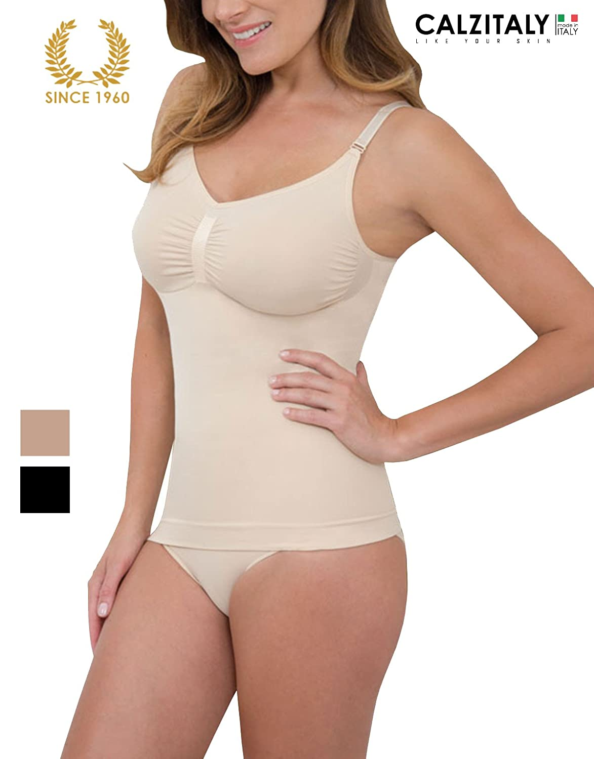 CONTROL VEST CAMI SEAMLESS AND SHAPER | SLIMMING SHAPEWEAR | S M L XL | MADE IN ITALY |