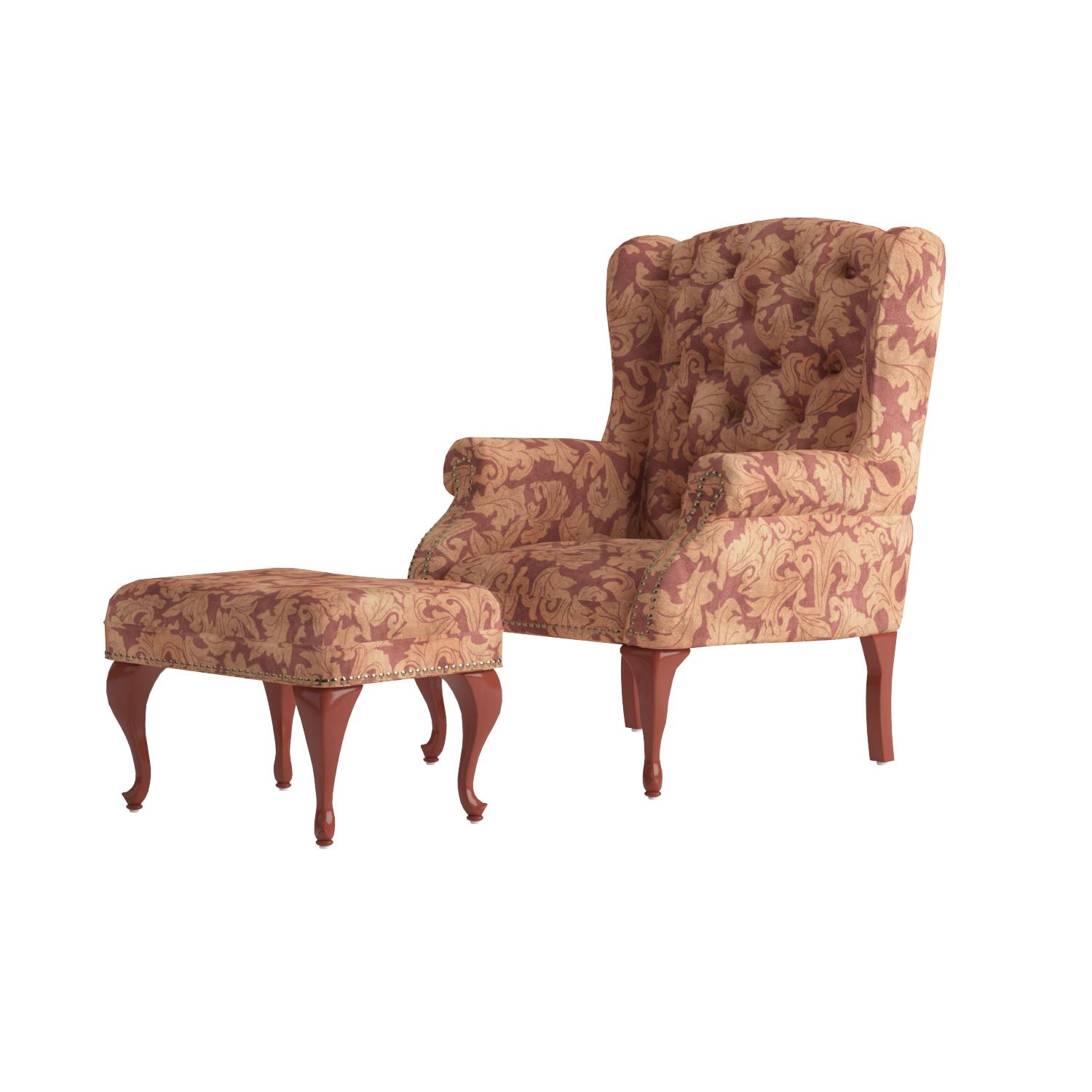 Burgundy Accent Chair Amazoncom Coaster Queen Anne Style Button Tufted Wing Accent