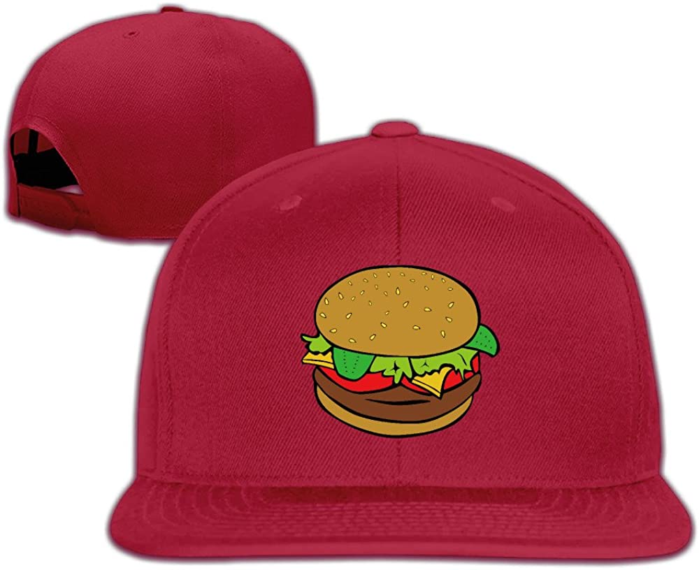 Taigo Cartoon Cute Hamburger Snapback Flat Peaked Baseball Hat