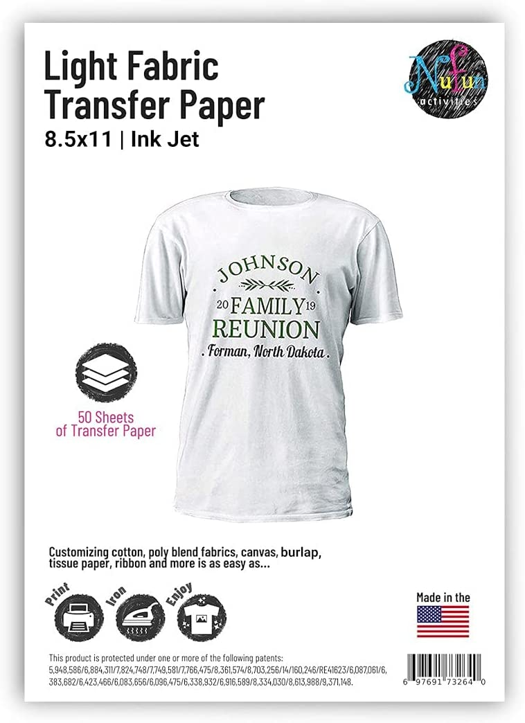 TRANS-04 20 Sheets A4 Inkjet Iron On Transfer Paper Heat Transfer Paper 2.0 for White and Light T Shirts Fabrics NO Mirror Print,Easy to Iron On TransOurDream Tru-Transfer Paper