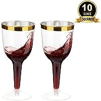 TOROTON 30 Copas de Vino Plástico con Borde