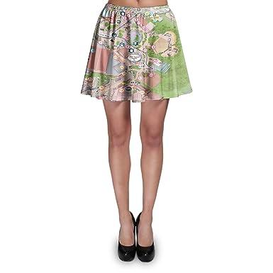Hollywood Studios Map Skater Skirt at Amazon Women\'s Clothing store: