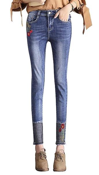 Saoye Fashion Pantalones Vaqueros De Las Mujeres Pantalones ...