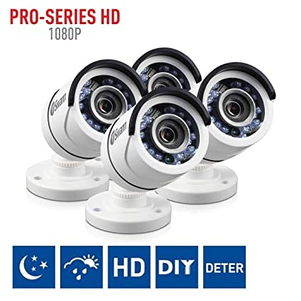 Amazon.com : Swann PRO-T852 1080p Multi-Purpose Day/Night Security Camera with Night Vision up to 100 ft / 3m - 4-Pack : Camera & Photo