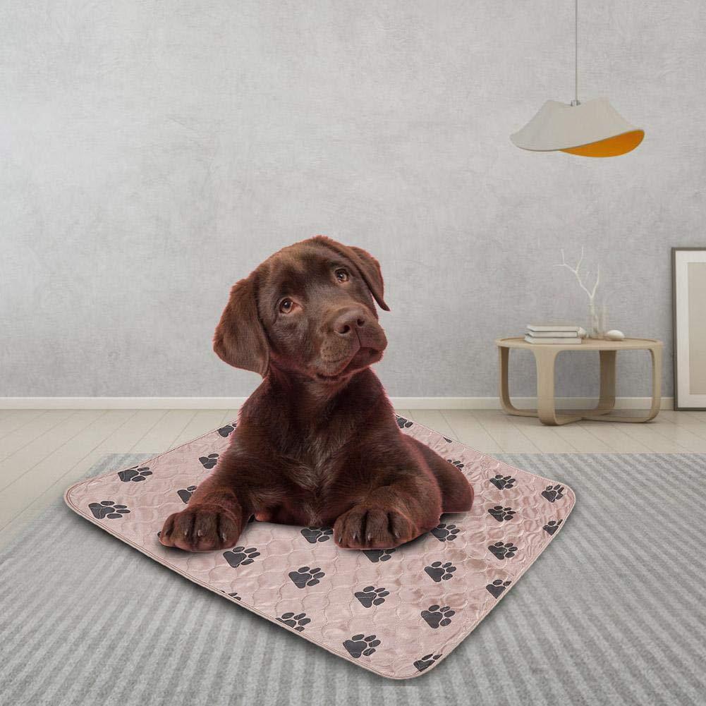 Fdit Socialme-EU Alfombrilla de Riegue Reutilizable Impermeable de Orina de Cama de Cojín de PIS para Gatos de Perros de Animal Doméstico(80 * 90cm-Marrón): ...
