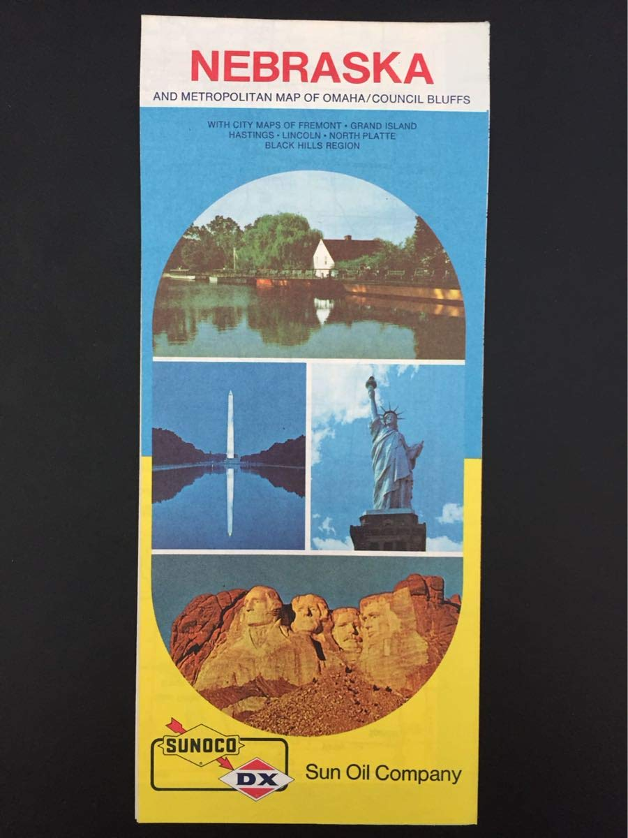 Amazon.com : 1974 Sunoco/DX Nebraska Road Map : Office Products