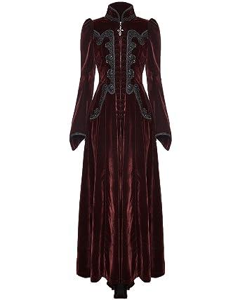 Ladies Victorian Style Steampunk Waist Jacket Vest Black Burgundy Brown S to L