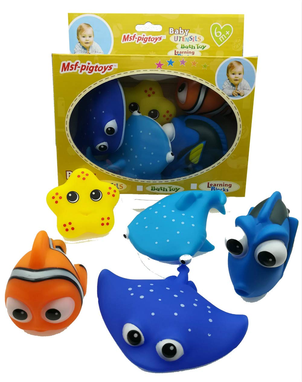 STAJOY Baby Bath Shower Toys Sea Animal Educational Learning Toys Bath Toys for Child (Sea Animal)