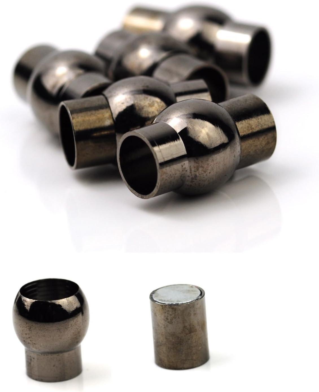 /Couleur: Noir noir 6 mm Bronze LX7 Corps noir Plug-in-magnetic fermoirs 6/mm ou Diam/ètre interne de 7/mm/