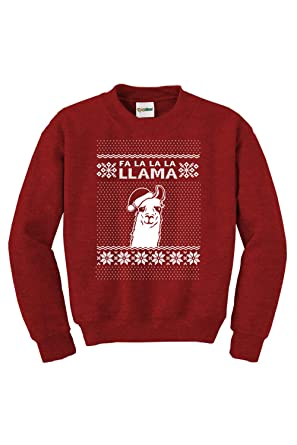 Amazoncom Womens Red Falalalallama Llama Ugly Christmas Sweater