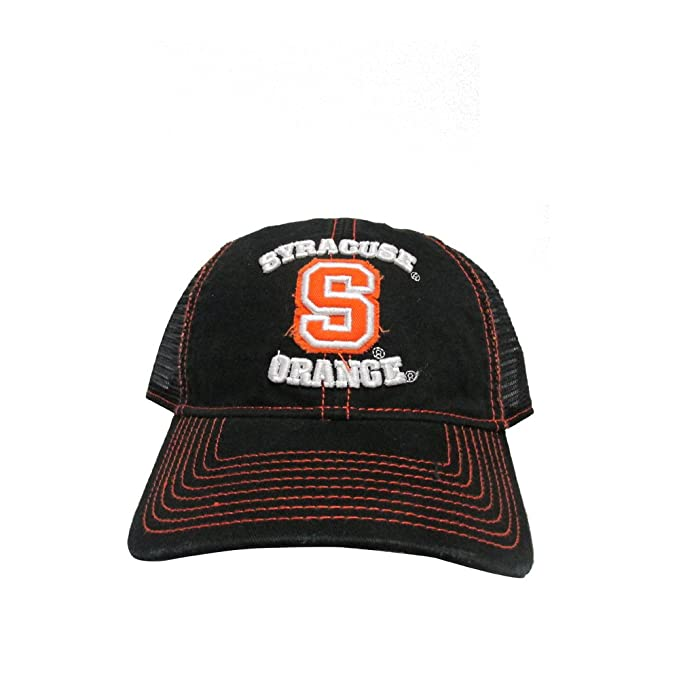 online store d1447 948f1 ... best price robstees syracuse university orange men mesh back college  team black snap back hat cap