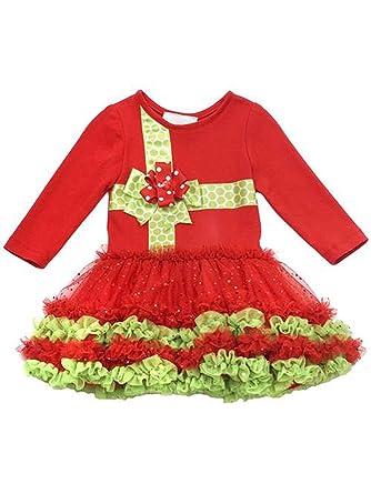 fe212467483e Amazon.com  Rare Editions Baby-Girls Christmas Present Tutu Dress ...