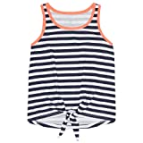 French Toast Girls' Big Tank Top, Navy, M