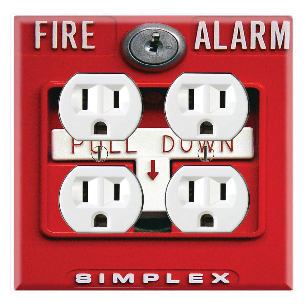 Graphics Wallplates - Fire Alarm - Single Toggle Wall Plate Cover