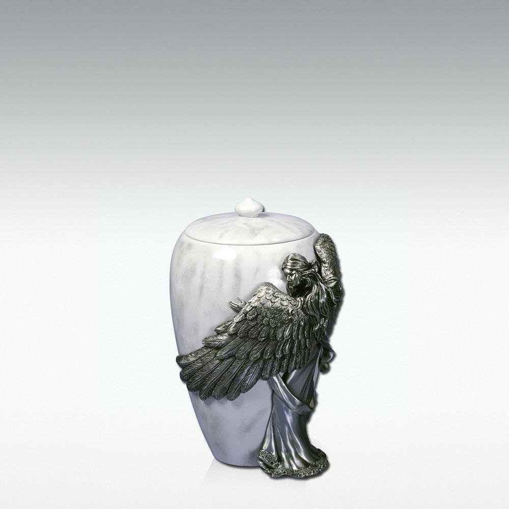 Angelstar Angel's Embrace Pewter Urn, 5-Inch, 8 Cubic Inch (45420) by Angel Star (Image #1)