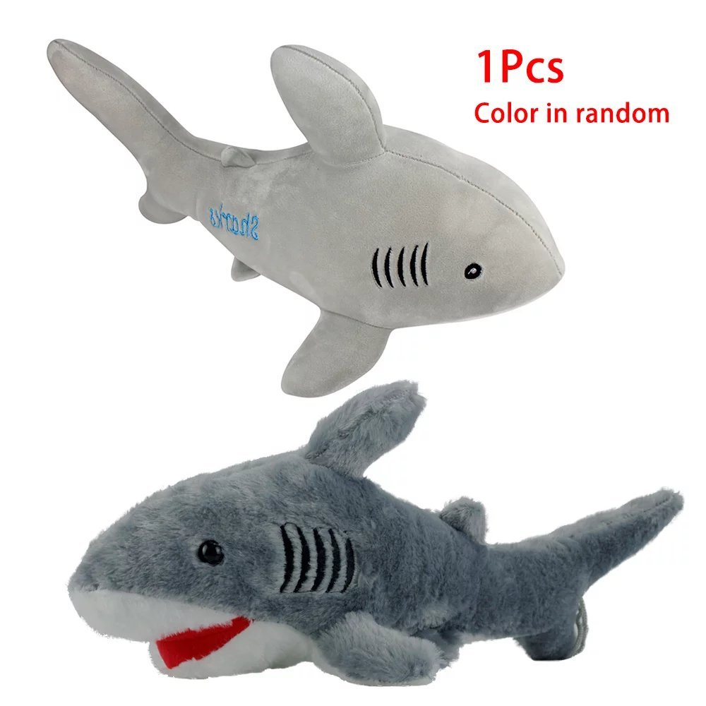 KateDy Stuffed Animal Shark Toys - Super Soft Plush Cotton Stuff Ocean Sea Animal Shark Dolls,16.5'' Long Kids Bed Home Decoration Pillow,Great For Boys Girls Birthday Gift Xmas Gift