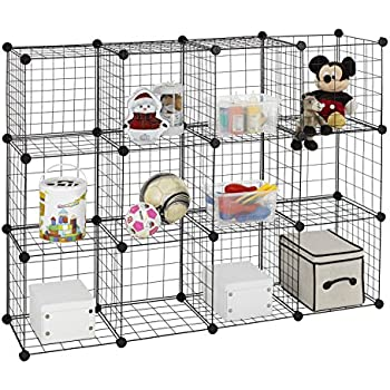 Amazon.com: Finnhomy 12 Storage Cubes Multi Use DIY Wire Grid ...