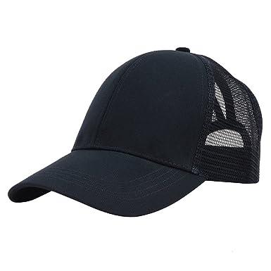 7d0ba6706 Symphony Mesh Baseball Cap, Adjustable Breathable Ponytail Baseball Hat  Outdoor Sport Mesh Cap for Women Men (Black): Amazon.co.uk: Clothing