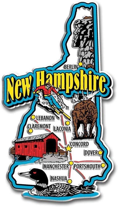 Connecticut Jumbo State Map Fridge Magnet