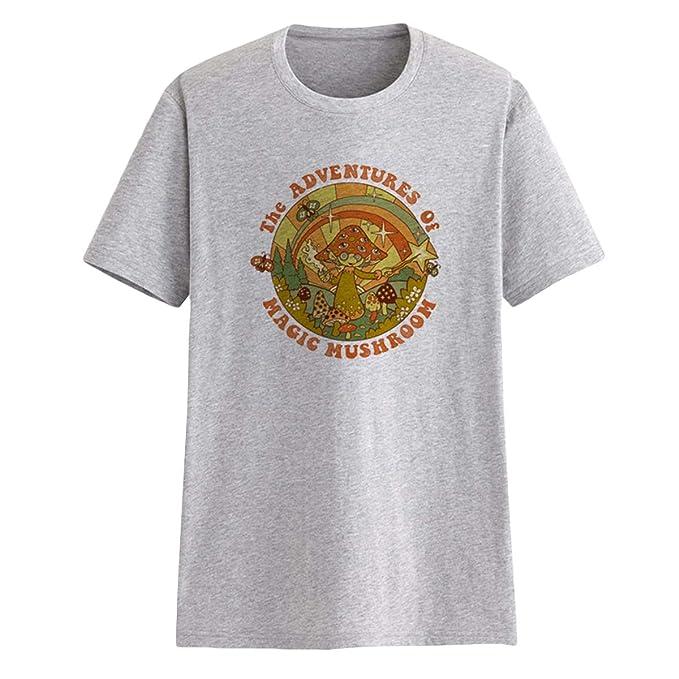 Las Aventuras de Magic Mushroom Camisetas Unisex Graphic tee Loose O-Neck Top: Amazon.es: Ropa y accesorios