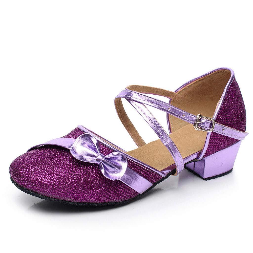 Feitengtd Toddler Baby Kids Girls Single Party Princess Dancing Ballroom Tango Latin Shoes