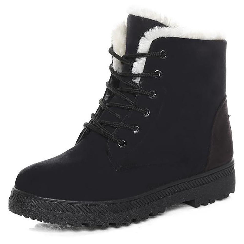 SHANGXIAN Ladies Warmly lined snow boots Waterproof long winter boots