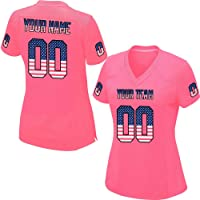 5a93395be Custom Pink Mesh Replica Football Jersey Men Women Girls Embroidered Team  Name and Your Numbers