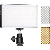 Neewer ML-180AI On-Camera Video Light, Pocket-Size 180 SMD LED/Bi-Color 3200-5600K/Dimmable Brightness/CRI97+/Built-in…