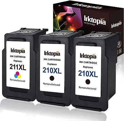 3 PK PG 210XL CL 211XL Ink for Canon PIXMA MX480 MP499 MX320 MX330 MX340 MX420
