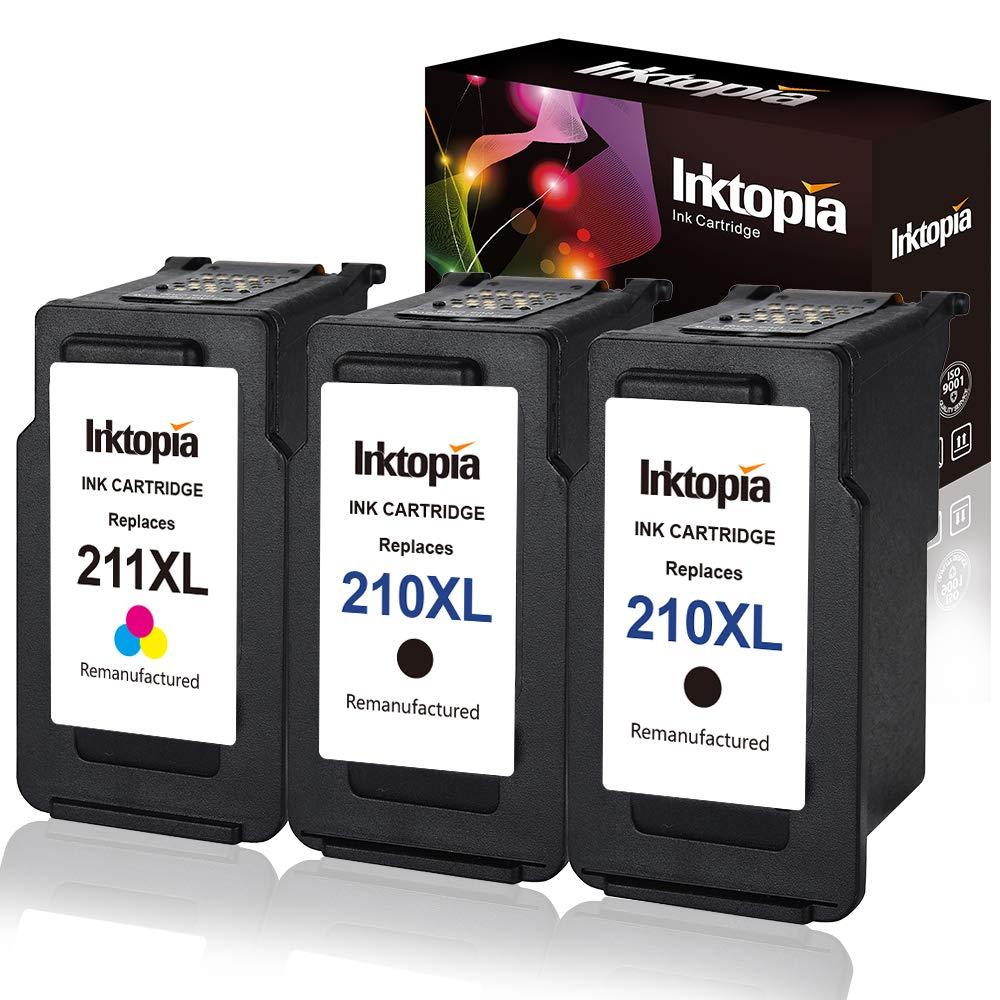 3 cartuchos (2 negros, 1 color) para canon pixma