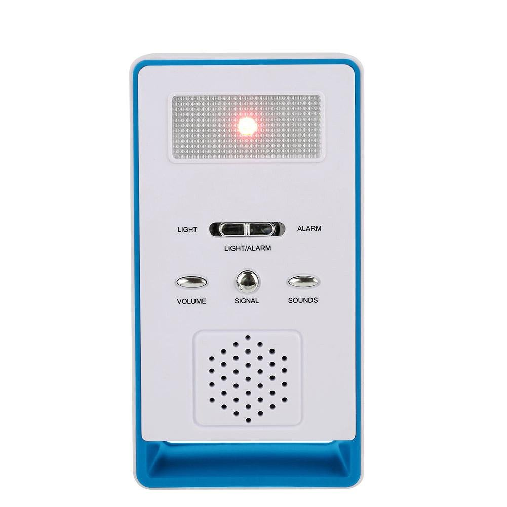 Blue Aramox Wireless Caregiver Call Button Alert System Transmitter and Receiver for Elderly Patient Pregnant Children