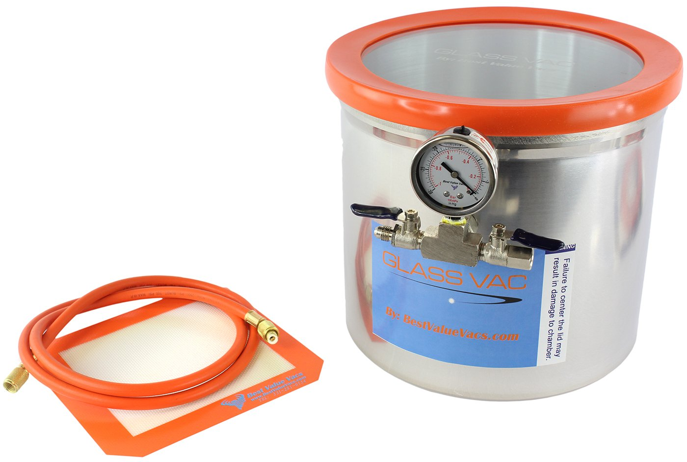 Best Value Vacs- Glass Vac Aluminum Vacuum Degassing Chamber, 3 Gallon by BEST VALUE VACS