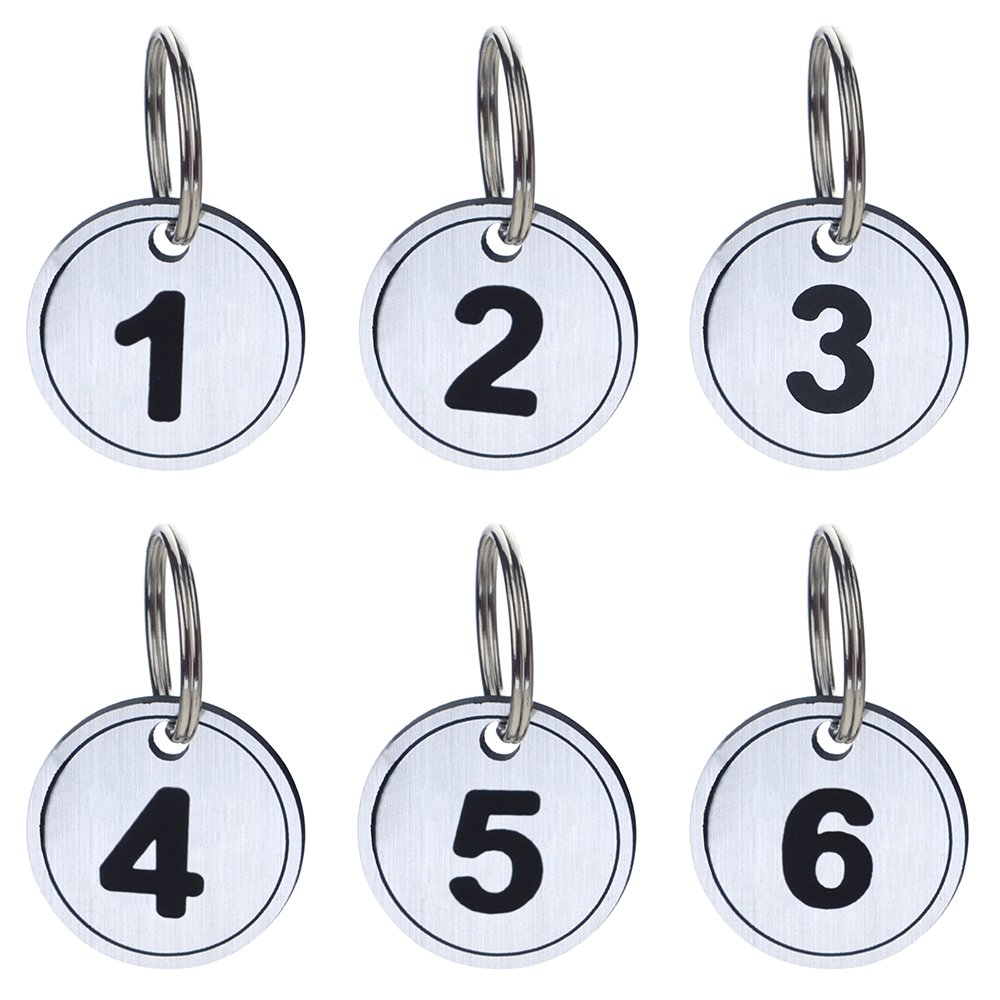 765a78d79 Amazon.com : Aspire 50 PACK ABS Key Tags with Ring, Numbered ID Tags Key  Chain Silver 1-50 : Office Products