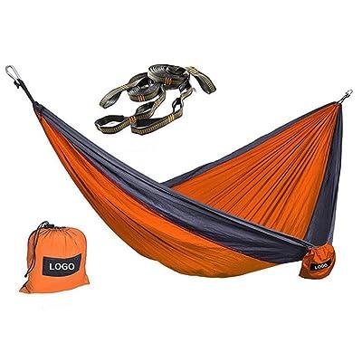 Hamac de Parachute léger de DZW avec la corde en nylon de haute résistance de corde de marguerite , orange