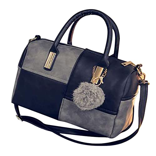 69afae3fde61b Retro Damen Leder Handtasche Hobo Tote Schulter Handtasche Bucket ...