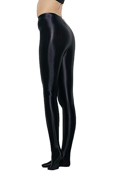 Amazon.com: LEOHEX brillo, opaco, brillo, cintura alta ...