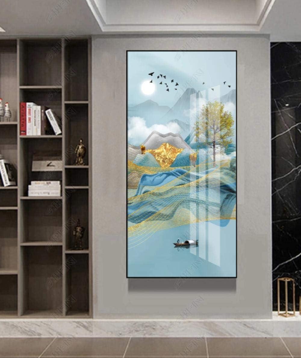 Puerta de entrada de pintura de porcelana de cristal porche colgante imagen ancho 80 X altura 160 cm