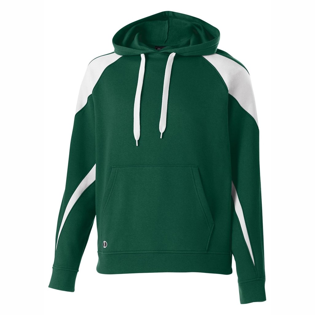Holloway Youth Prospect Hoodie (Large, Forest/White) by Holloway