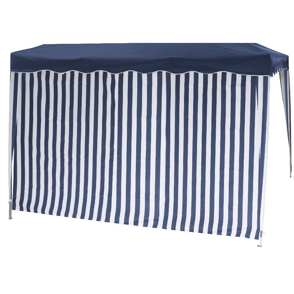 Siena Garden 553903 Set d'Éléments Latéraux pour Pavillon Pliable de Jardin avec Fenêtre + sans Fenêtre Housse Polyester Bleu/Blanc