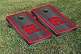 Victory Tailgate Hardwood Classics (Basketball) Rutgers University Scarlet Knights Onyx Stained Border Version Cornhole Game Set