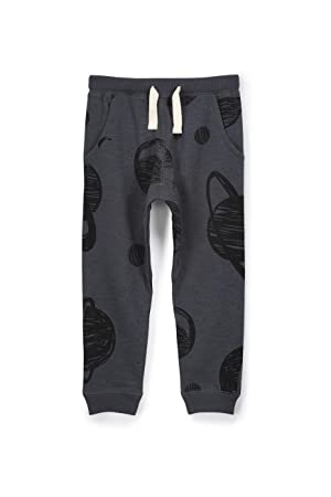 Cotton On Little Boys Wesley Sweatpants Graphite Slub/Space Size 1