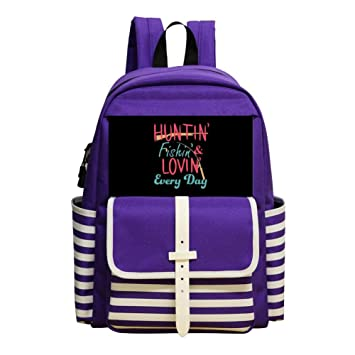 Amazon.com   Mini School Backpack for Kindergarten Boys Girls Print Hunting  and Fishing Purple   Kids  Backpacks 84a6a21249