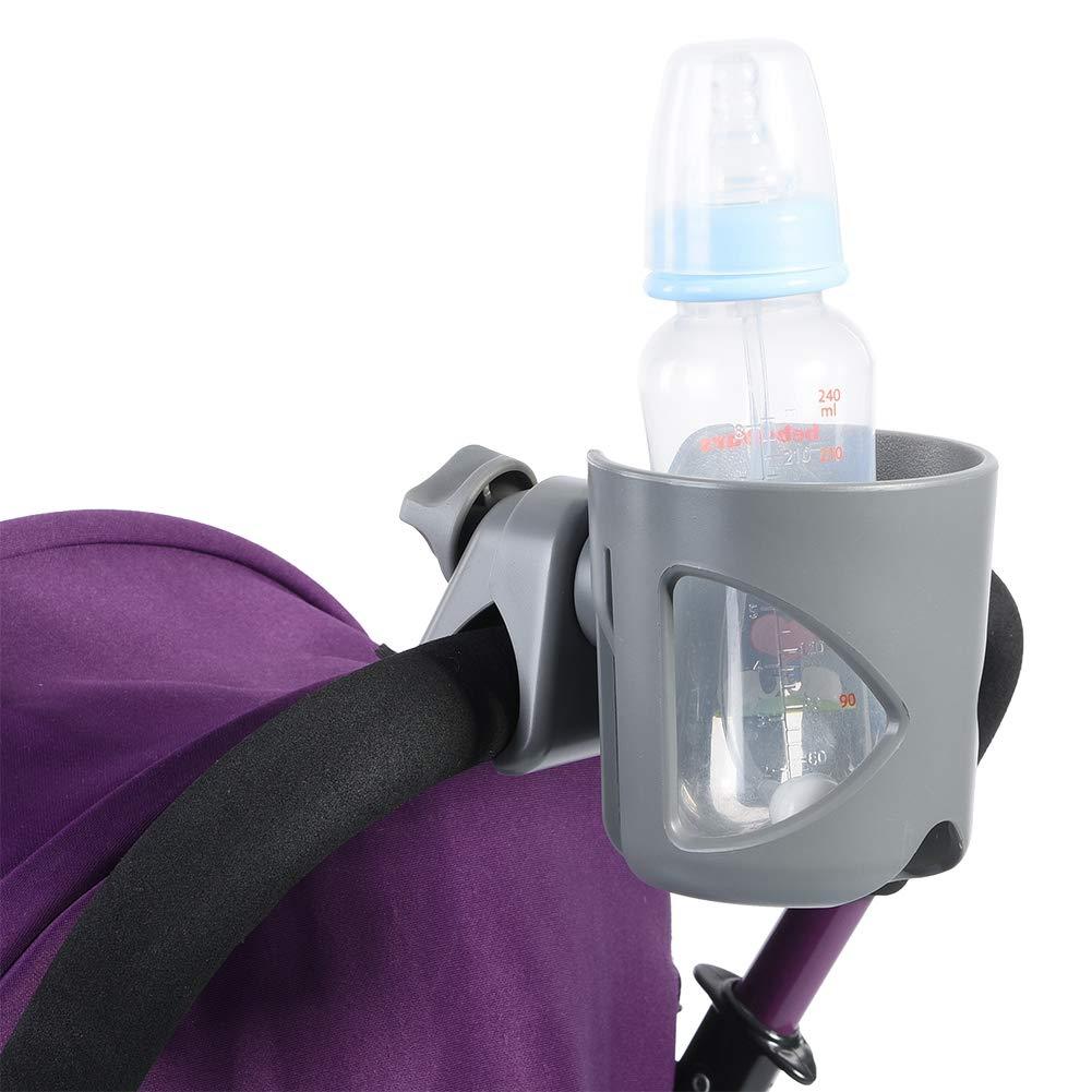 Kinderwagen Becherhalter 360 Grad Universal Rotation Cup Getr/änkehalter Rack f/ür Baby Getr/änkehalter Trolley