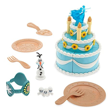 Amazoncom Disney Frozen Anna Birthday Cake Playset Toys Games