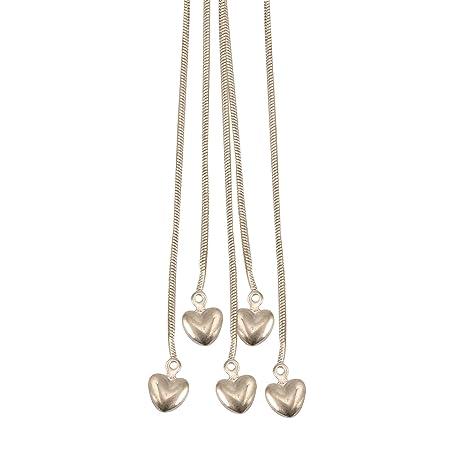 f560bf2a0ffe joyliveCY-Unique moda 925 ba ado en plata joyeršªa mano pulsera de cadena  de cinco cadenas con cinco corazones  Amazon.es  Hogar